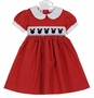 NEW Le' Za Me Red or Pink Polka Dot Smocked Minnie Mouse Dress