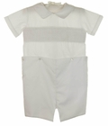 NEW Le' Za Me White Smocked Button On Shorts Set