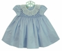 NEW Marco & Lizzy Blue Smocked Dress with Ruffled Lace Collar for Babies