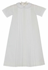 """<img src=""""https://p11.secure.hostingprod.com/@grammies-attic.com/ssl/images/blue-sold-1.gif""""> NEW Marco & Lizzy White Cotton Pleated Daygown with Fagoting and Embroidery"""