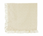 NEW Max Daniel Ivory Softest Baby Blanket with Satin Trim