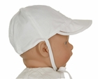 NEW Monelli White Cotton Batiste Hat with Fagoting, Pintucks, and Embroidery