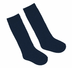 NEW Navy Blue Cotton Blend Knee Socks