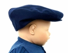 NEW Navy English Wool Vintage Style Newsboy Hat