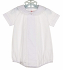 NEW Peppermint Pony White Heirloom Style Romper with Lace Trim