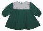 "<img src=""https://p11.secure.hostingprod.com/@grammies-attic.com/ssl/images/blue-sold-1.gif""> NEW Petit Ami Green Pleated Baby Dress with Embroidered White Portrait Collar"