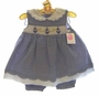 "<img src=""https://p11.secure.hostingprod.com/@grammies-attic.com/ssl/images/blue-sold-1.gif""> NEW Petit Ami Navy Checked Smocked Sailor Dress with Matching Pantaloons"
