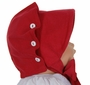 NEW Petit Ami Vintage Style Red Cotton Corduroy Button Bonnet