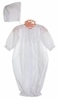 NEW Petit Ami White Batiste Lace Trimmed Gown and Bonnet