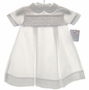 NEW Petit Ami White Smocked Daygown with Back Buttons