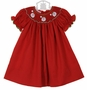 "<img src=""https://p11.secure.hostingprod.com/@grammies-attic.com/ssl/images/blue-sold-1.gif"">  NEW Petit Bebe by Anavini Red Bishop Smocked Dress with Embroidered Santas"