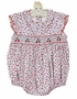 NEW Petit Bebe by Anavini Cotton Knit Cherry Print Smocked Bubble
