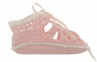 NEW Pink Crocheted Sandal Style Booties