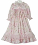 "<img src=""https://p11.secure.hostingprod.com/@grammies-attic.com/ssl/images/blue-sold-1.gif""> NEW Pink Royal Garden Print Nightgown with Long Sleeves for Toddlers, Little Girls, and Big Girls"