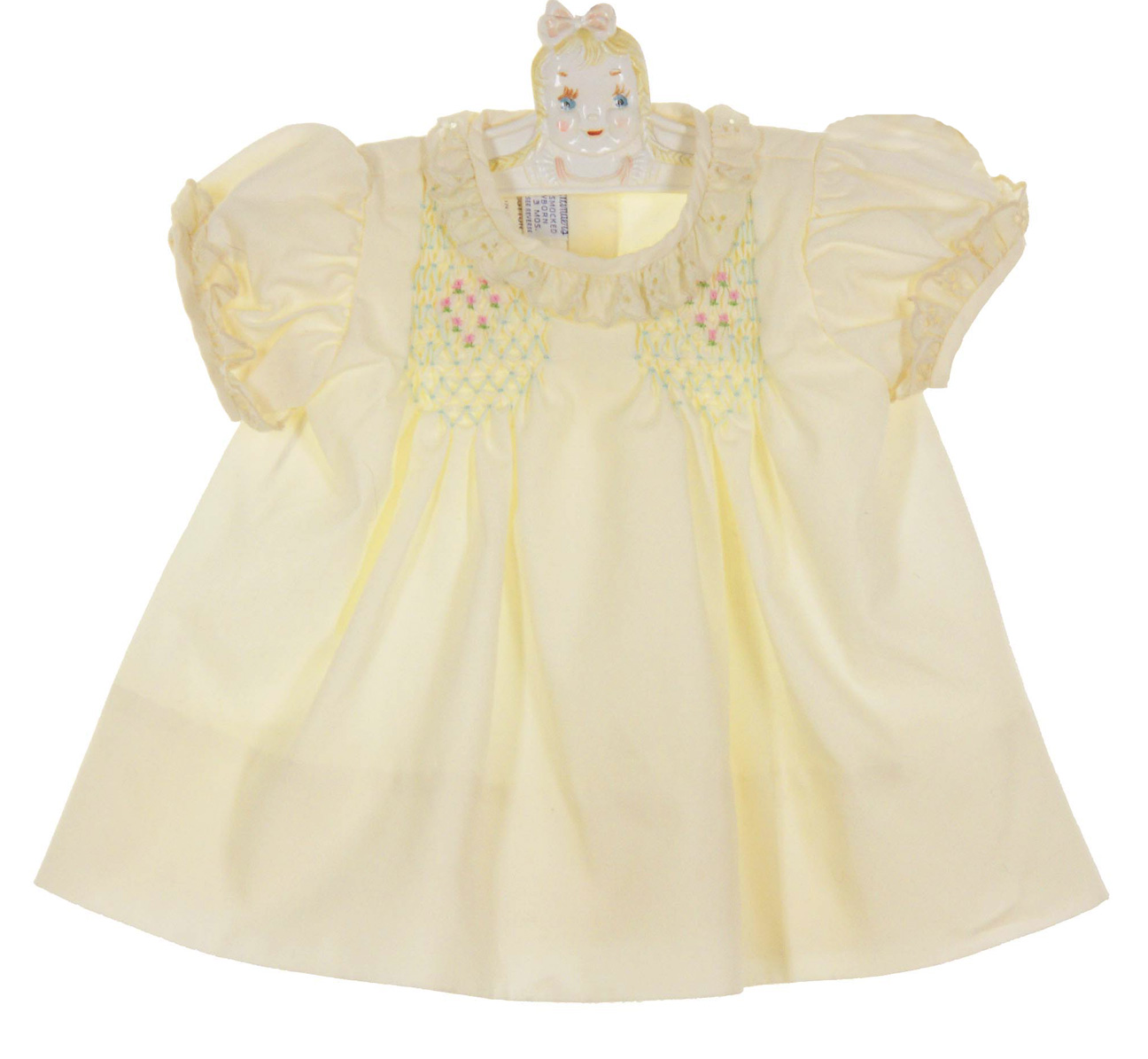 00e0a4712 NEW Polly Flinders Palest Yellow Smocked Dress