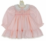 "<img src=""https://p11.secure.hostingprod.com/@grammies-attic.com/ssl/images/blue-sold-1.gif""> NEW Polly Flinders Pink Dotted Smocked Dress with Ruffled Hem"