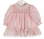 "<img src=""https://p11.secure.hostingprod.com/@grammies-attic.com/ssl/images/blue-sold-1.gif""> NEW Polly Flinders Rose Pink Smocked Dress with Lace Trim"