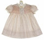 "<img src=""https://p11.secure.hostingprod.com/@grammies-attic.com/ssl/images/blue-sold-1.gif"">  NEW Polly Flinders Ivory with Pink Rosebud Print Dress with Ivory Lace"