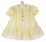 "<img src=""https://p11.secure.hostingprod.com/@grammies-attic.com/ssl/images/blue-sold-1.gif""> NEW Polly Flinders Yellow Smocked Dress with White Eyelet Trim"