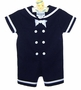 "<img src=""https://p11.secure.hostingprod.com/@grammies-attic.com/ssl/images/blue-sold-1.gif""> NEW Rare Editions Navy Sailor Shortall with Matching Sailor Hat"