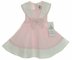 "<img src=""https://p11.secure.hostingprod.com/@grammies-attic.com/ssl/images/blue-sold-1.gif""> NEW Rare Editions Pink and White Sailor Dress with Pink Checked Trim"