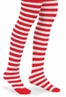 NEW Red and White Tights with Wide Stripes