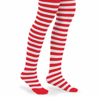 Candy Striped Holiday Tights Size 18-24 Months Stripes Christmas Accessory
