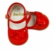 """<img src=""""https://p11.secure.hostingprod.com/@grammies-attic.com/ssl/images/blue-sold-1.gif""""> NEW Red Patent Leather Mary Jane Style Baby Shoes with Red Satin Bows"""