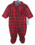 NEW Red Plaid Footed Pajamas