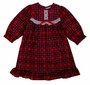 "<img src=""https://p11.secure.hostingprod.com/@grammies-attic.com/ssl/images/blue-sold-1.gif""> NEW Red Plaid Nightgown with White Eyelet Trim for Baby, Toddler, and Little Girls"
