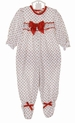 NEW Red Rosebud Print Ruffle Bottom Pajamas for Baby Girls