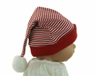 NEW Red Santa's Elf Hat with White Stripes and Red Trim