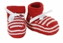 NEW Red Striped Hand Knit Booties