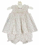 NEW Remember Nguyen (Remember When) Rosebud Print Smocked Dress with Matching Diaper Cover