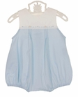 NEW Remember Nguyen (Remember When) Vintage Style Blue and White Cotton Romper