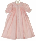 """<img src=""""https://p11.secure.hostingprod.com/@grammies-attic.com/ssl/images/blue-sold-1.gif""""> NEW Remember Nguyen (Remember When) Vintage Style Pink Cotton Long Sleeved Smocked Daygown with Lace and Embroidery"""
