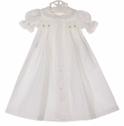 NEW Remember Nguyen (Remember When) Vintage Style White Cotton Smocked Daygown with Lace and Embroidery