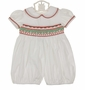 NEW Remember Nguyen (Remember When) White Bubble with Holiday Smocking