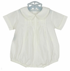 NEW Remember Nguyen (Remember When) White Cotton Romper with Ivory Embroidery and Back Belt
