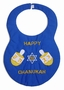 NEW Rosalina Blue Chanukah Bib with Appliqued Dreidels