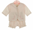 NEW Rosalina Pink Embroidered 3 Piece Diaper Set