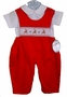 NEW Rosalina Red Smocked Longall Set with Reindeer Embroidery