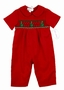 NEW Rosalina Red Smocked Romper with Embroidered Trees