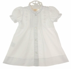 NEW Rosalina Vintage Style White Cotton Daygown With Tiny Pintucks, Lace, and White Embroidery