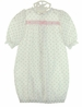 NEW Rosebud Print Gown with White Eyelet Trim for Newborns