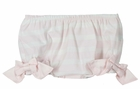 NEW Ruffle Butts Pale Pink Striped First Birthday Diaper Cover with Pink Bows