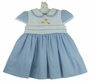 NEW Sarah Louise Blue Checked Dress with Duck Applique