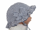 NEW Sarah Louise Blue Dotted Sunbonnet with Bow