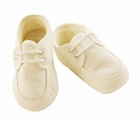 NEW Sarah Louise Boys Cream Linen Christening Shoes