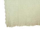 """<img src=""""https://p11.secure.hostingprod.com/@grammies-attic.com/ssl/images/blue-sold-1.gif""""> NEW Sarah Louise Delicate Pale Ivory Crocheted Blanket with Scalloped Edges"""